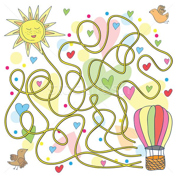 迷路 ホット 空気 風船 いたずら書き スタイル ストックフォト © Natali_Brill