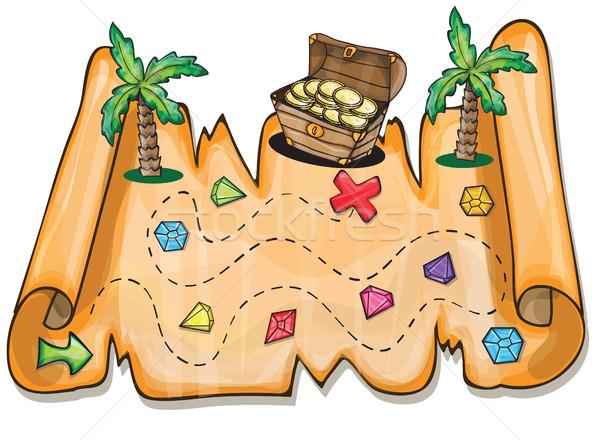Pirata jogo crianças dinheiro papel Foto stock © Natali_Brill