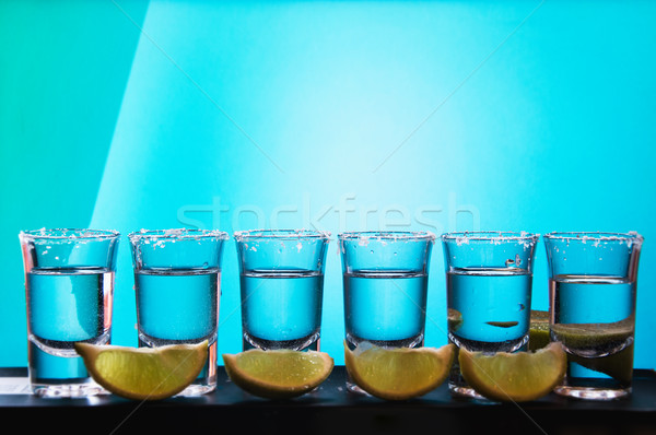 Ezüst tequila hagyományos mexikói ital egy Stock fotó © Natali_Brill