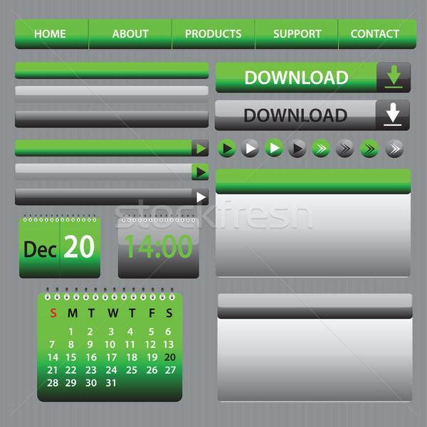 Web elementi design grigio verde layout Foto d'archivio © Natali_Brill