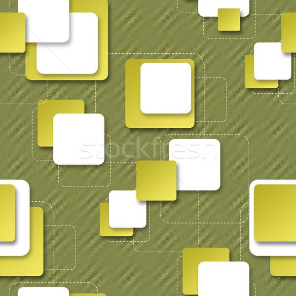 Seamless background with square blocks for design Stock photo © Natali_Brill