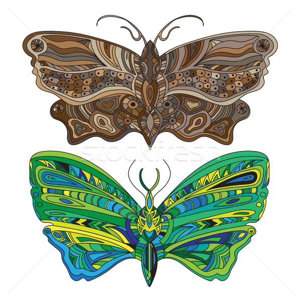 Butterfly - Vector card Stock photo © Natali_Brill