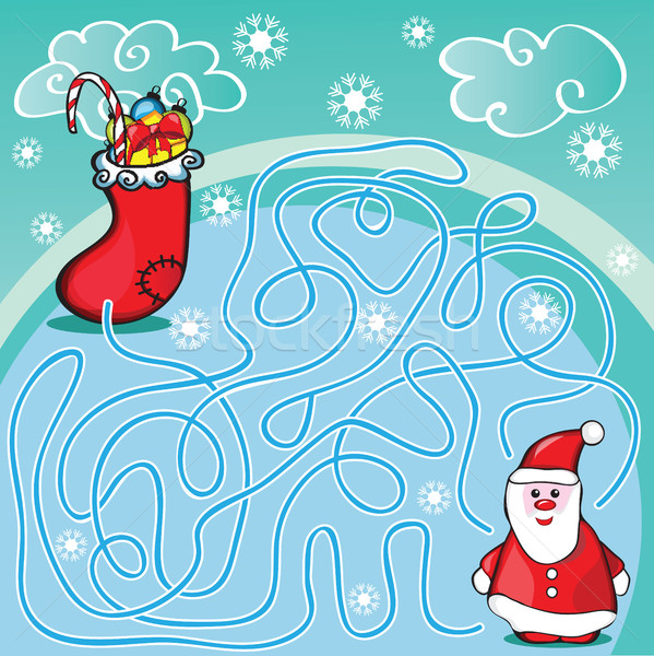 Maze game or activity page for kids Stock photo © Natali_Brill