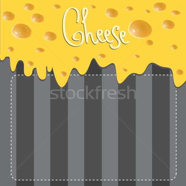 Vector Cheese brochure on background made of stripes Stock photo © Natali_Brill