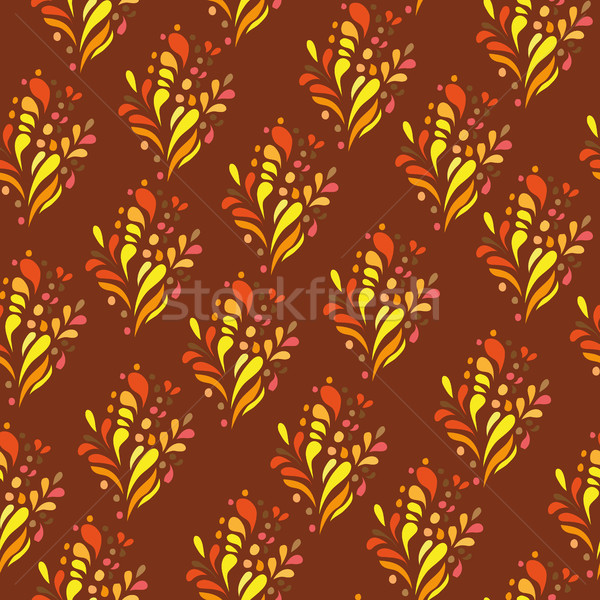 Orange ornament - seamless pattern dudling  Stock photo © Natali_Brill