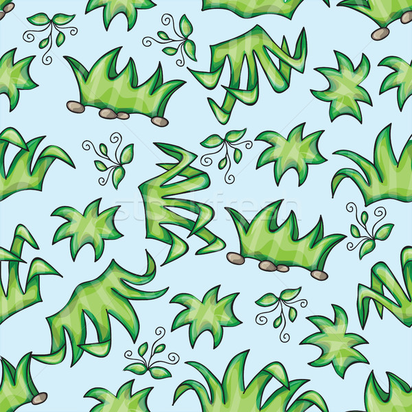 Vector seamless pattern with grass Stock photo © Natali_Brill