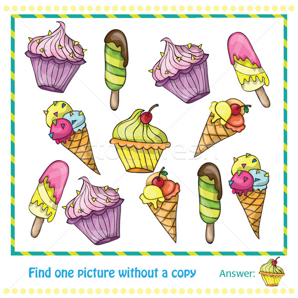 Vector Illustration - Game for Children find picture withuot copy Stock photo © Natali_Brill