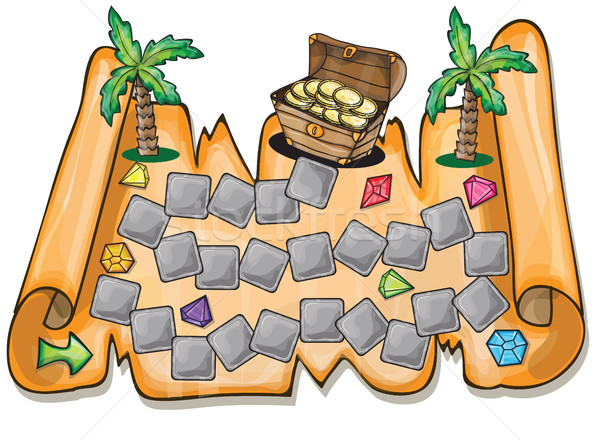 Pirate treasure chest - Vector illustration Stock photo © Natali_Brill