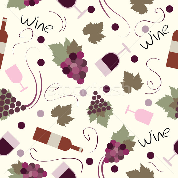 Seamless pattern vintage wine Stock photo © Natali_Brill