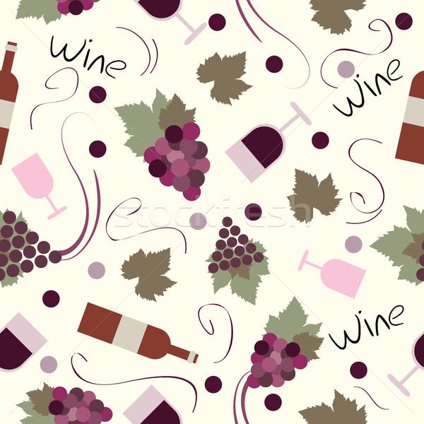 Vintage vinho vetor conjunto vinificação Foto stock © Natali_Brill