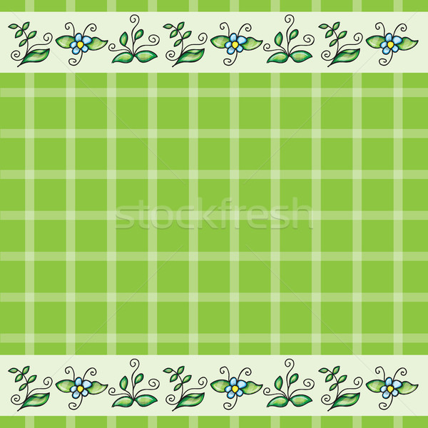 Vector pattern with grass and flowers Stock photo © Natali_Brill
