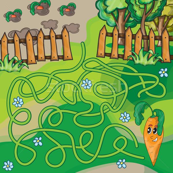 Maze game for kids Stock photo © Natali_Brill