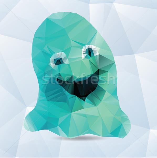 Vector origami ghost  Stock photo © Natali_Brill