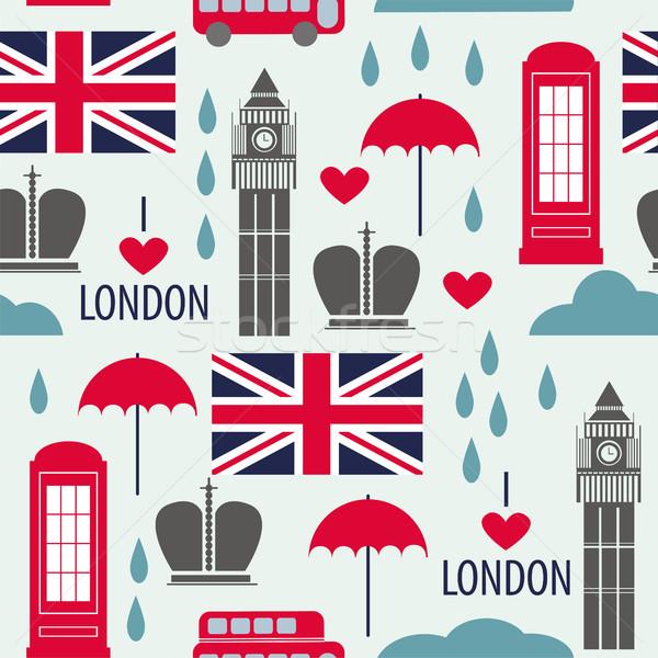 Londen symbolen stad straat telefoon Stockfoto © Natali_Brill