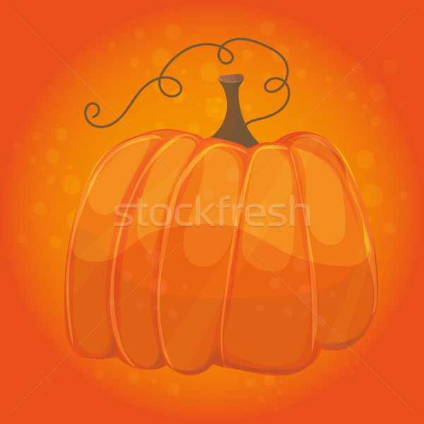 Cartoon citrouille orange couleur halloween carte Photo stock © Natali_Brill