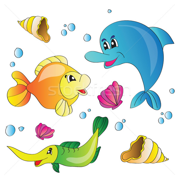 Vetor conjunto marinha vida água Foto stock © Natali_Brill