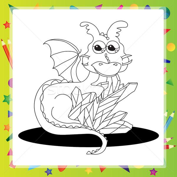 Vector illustration of Cartoon dragon Stock photo © Natali_Brill