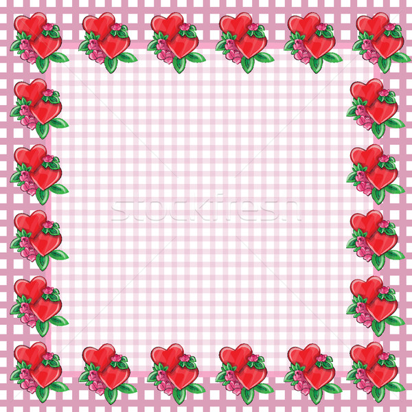 Frame with hearts - vector image Stock photo © Natali_Brill