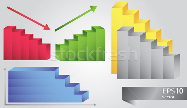 Grafico icona vettore icone diverso colori Foto d'archivio © Natali_Brill