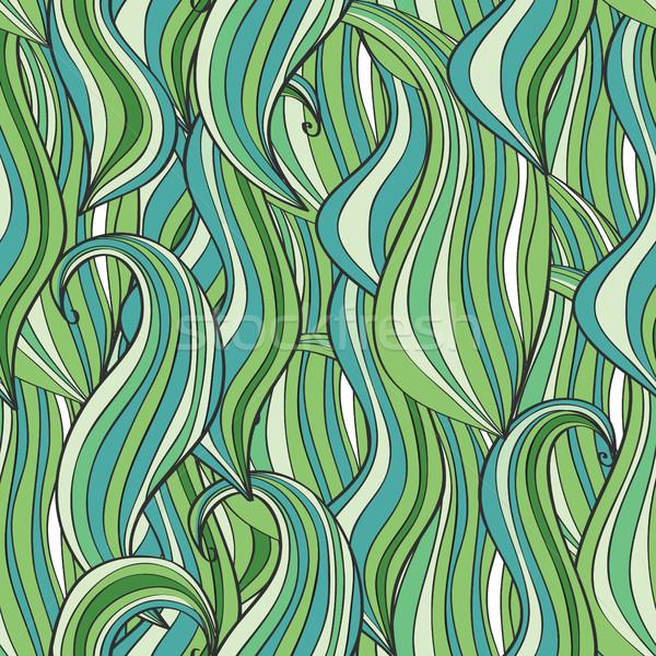 Sin costura ola patrón olas pueden utilizado Foto stock © Natali_Brill