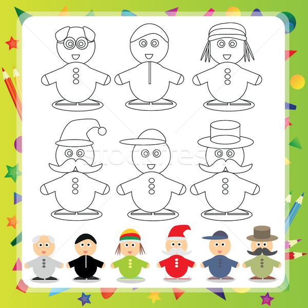 Funny cartoon character - Vector illustration Stock photo © Natali_Brill