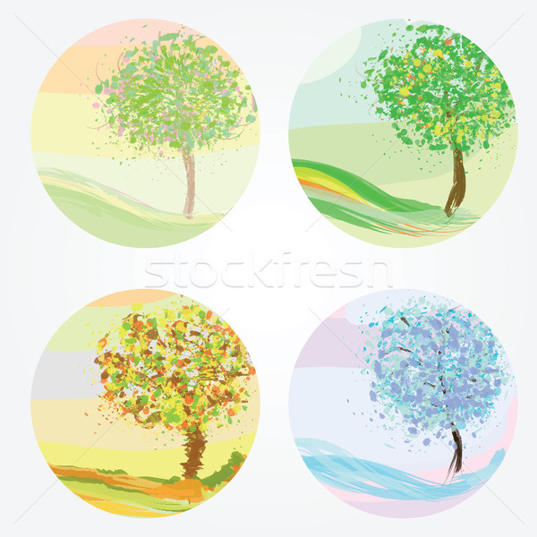 Four seasons - spring, summer, autumn, winter Stock photo © Natali_Brill