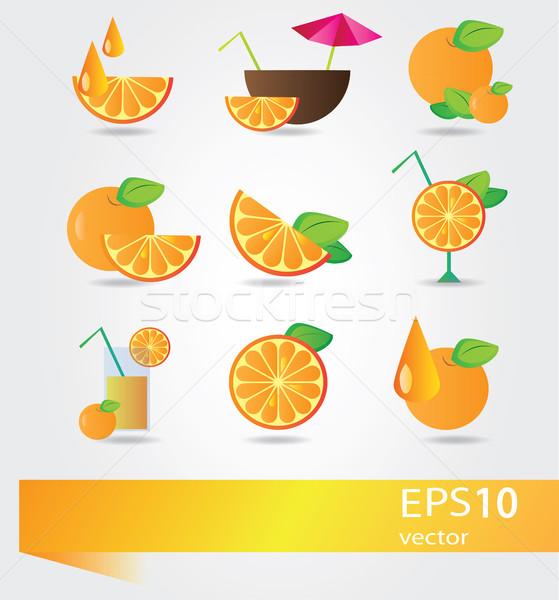 Orange  Fruit cocktail set Stock photo © Natali_Brill