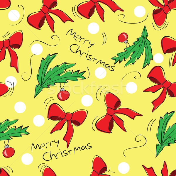 Natal decoração flor laranja verde Foto stock © Natali_Brill