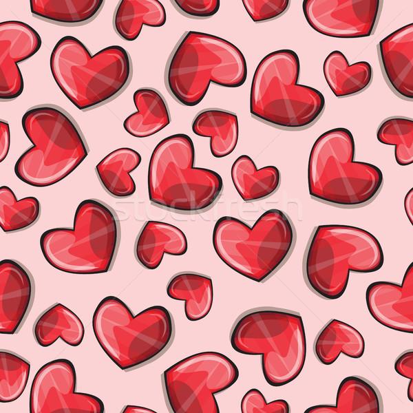 Seamless pattern with stylized hearts Stock photo © Natali_Brill
