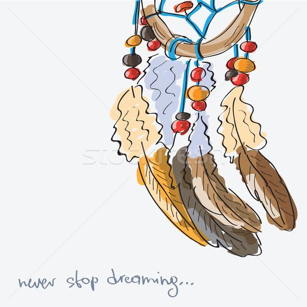 Dream  catcher, vector illustration Stock photo © Natali_Brill