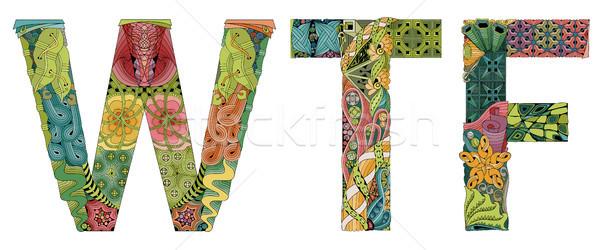 Foto stock: Abreviatura · vetor · decorativo · objeto · arte · projeto