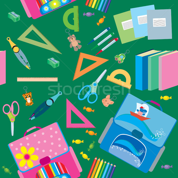 Stock photo: seamless school pattern