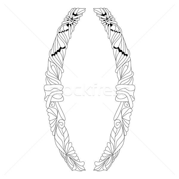 Hand drawn zentangle brackets. Vector decorative unusual object Stock photo © Natalia_1947