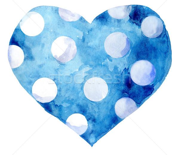 watercolor blue heart Stock photo © Natalia_1947