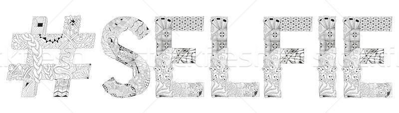 слово вектора декоративный объект искусства дизайна Сток-фото © Natalia_1947