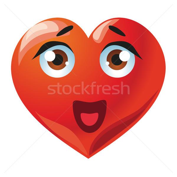 Stock photo: Smiling cartoon heart