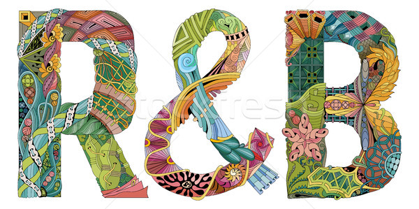Abbreviation R and B. Vector decorative zentangle object Stock photo © Natalia_1947
