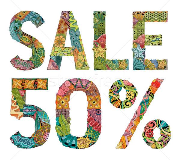 Kelime satış 50 yüzde vektör dekoratif Stok fotoğraf © Natalia_1947
