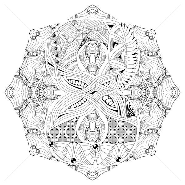 Mandala with numero eight for coloring. Vector decorative zentangle Stock photo © Natalia_1947