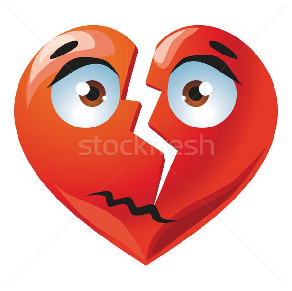 Red broken heart Stock photo © Natalia_1947