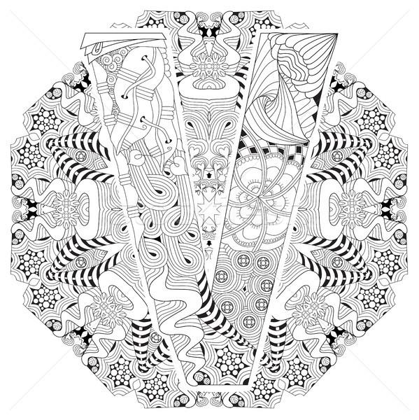 曼陀羅 手紙 ベクトル 装飾的な 芸術 デザイン ストックフォト © Natalia_1947