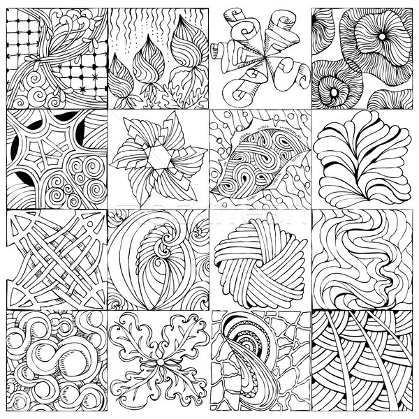 Hand drawn zentangle background for coloring page Stock photo © Natalia_1947