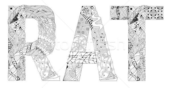 Palabra rata vector decorativo objeto arte Foto stock © Natalia_1947