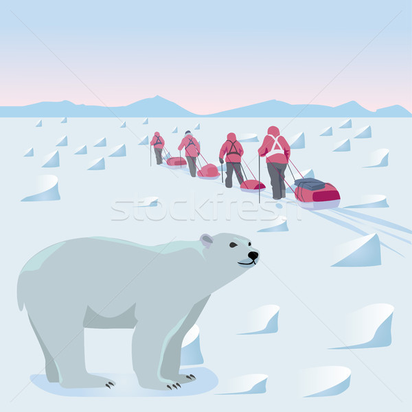 Expedition in the Arctic Stock photo © Natalia_1947
