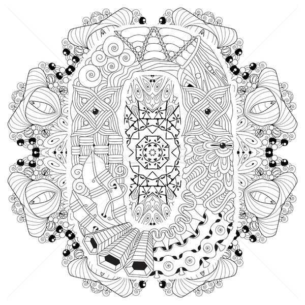 мандала вектора декоративный искусства дизайна Сток-фото © Natalia_1947