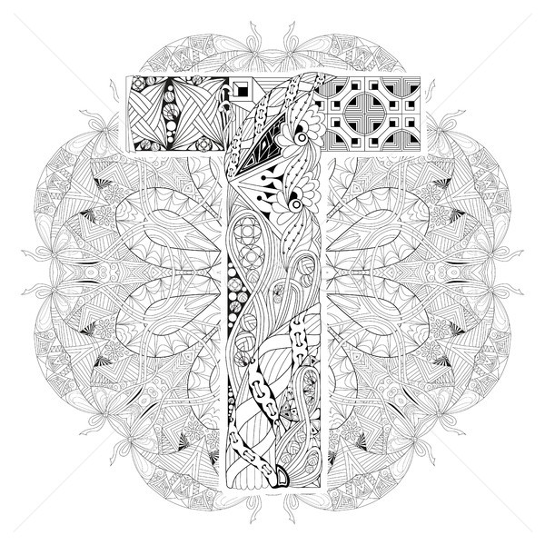 曼陀羅 ベクトル 装飾的な 芸術 デザイン ストックフォト © Natalia_1947