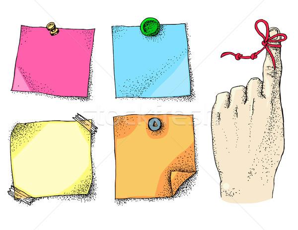 Hatırlatma dizi parmak kâğıt Stok fotoğraf © Natalia_1947