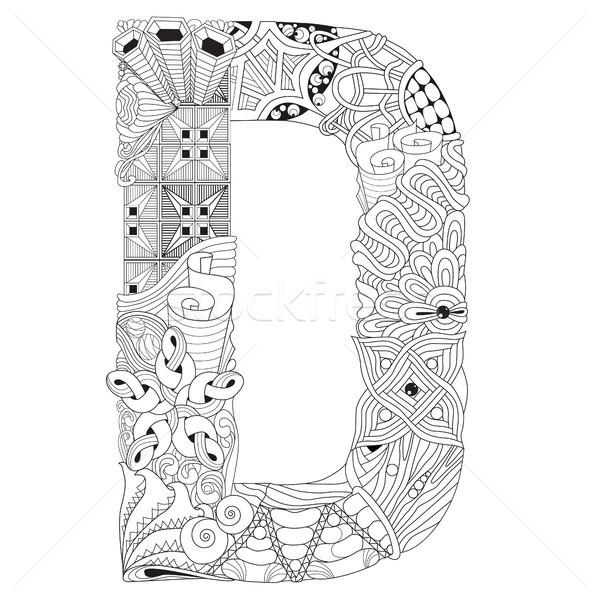 D betű vektor dekoratív tárgy művészet terv Stock fotó © Natalia_1947