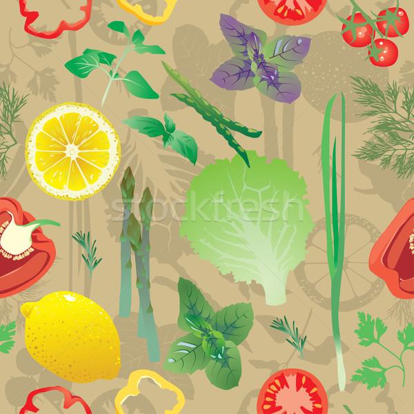 Stockfoto: Gekleurd · citroen · peper