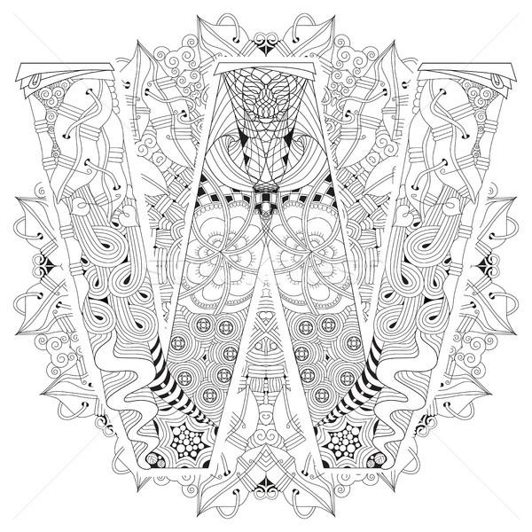 Mandala list w wektora dekoracyjny sztuki projektu Zdjęcia stock © Natalia_1947